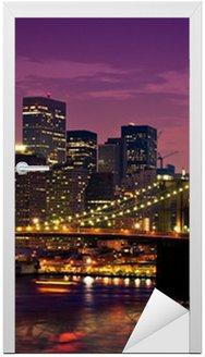 Naklejka na Drzwi New-york Pont de Brooklyn