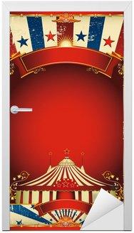 Naklejka na Drzwi Nicea zabytkowe cyrk tle z dużym górę