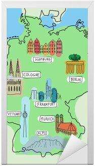 Naklejka na Drzwi Niemcy mapa zabytków