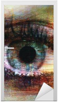 Naklejka na Drzwi Oczy tekstury
