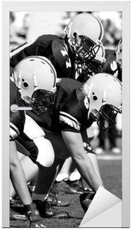 Naklejka na Drzwi Offensive linemen, futbol amerykański
