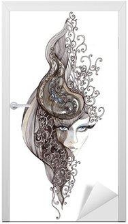 Ozdobny włosy kobieta (malarstwo CBM)