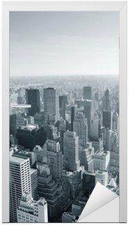 Naklejka na Drzwi Panoramę Nowego Jorku w czerni i bieli