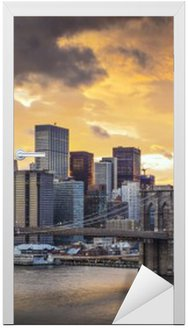 Naklejka na Drzwi Panoramę Nowego Jorku