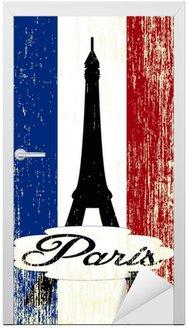 Naklejka na Drzwi Paris karta