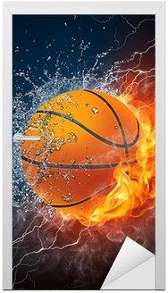 Naklejka na Drzwi Piłka do koszykówki