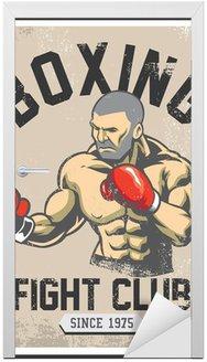 Naklejka na Drzwi Plakat rocznika boks