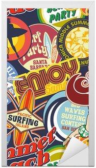 Plaża szpilki vintage bezszwowych wzór
