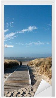Naklejka na Drzwi Plaże Morza Północnego na Langeoog