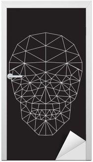 Polygonal wektor czaszki.