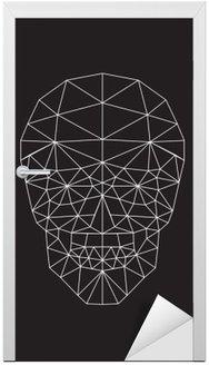 Naklejka na Drzwi Polygonal wektor czaszki.