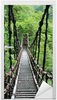 Naklejka na Drzwi Pont de lianes Kazura kredytowej-à oku Sikoku, Japonia