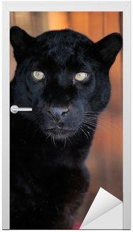 Naklejka na Drzwi Portret leopard
