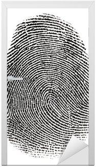 Naklejka na Drzwi Prawdziwe fingerprint w białym tle Super makro
