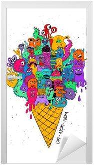Psychedelic Ice Cream Cone Pełna zabawnych potworów.
