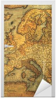 Naklejka na Drzwi Reprodukcja 16 wieku mapę Europy