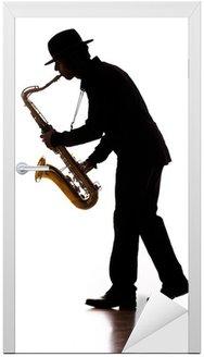 Naklejka na Drzwi Sax player