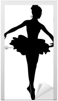Naklejka na Drzwi Silhouette Ballerina