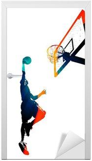 Naklejka na Drzwi Slam Dunk Basketball Funky