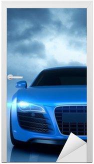 Naklejka na Drzwi Sport samochodowy niebieski