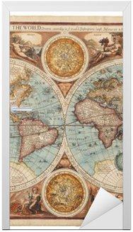 Naklejka na Drzwi Stara mapa (1626)