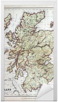 Stara mapa Szkocji, 1870