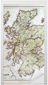 Naklejka na Drzwi Stara mapa Szkocji, 1870