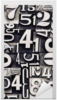 Naklejka na Drzwi Stare numery metalowe