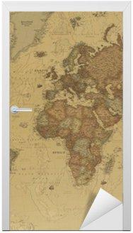 Naklejka na Drzwi Starożytne mapy świata