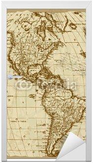 Naklejka na Drzwi Stary Mapa USA