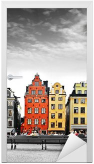 Naklejka na Drzwi Stockholm, sercu Starego Miasta,
