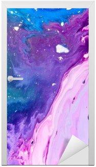 Naklejka na Drzwi Streszczenie farby tekstury