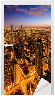 Naklejka na Drzwi Światła Chicago