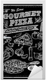 Naklejka na Drzwi Tablica składniki pizzy