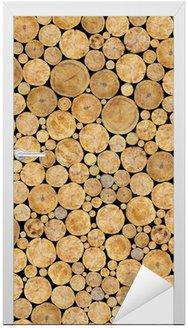Tekstura Dzienniki ułożone, naturalne tło