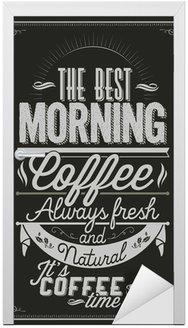 Naklejka na Drzwi Tło Typografia Kawa na tablicy