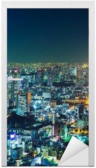 Naklejka na Drzwi Tokyo Skyline w nocy