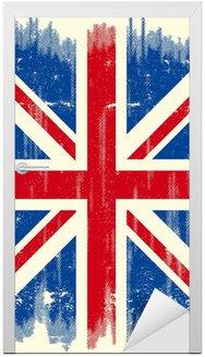 Naklejka na Drzwi UK grunge flag