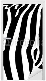 Naklejka na Drzwi Vector - zebra tekstury czarny i biały