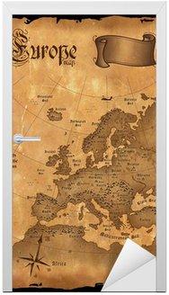 Naklejka na Drzwi Vintage Mapa Europy pionowy