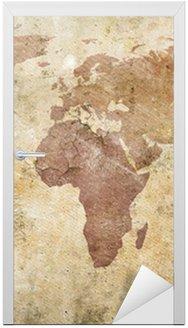 Naklejka na Drzwi Vintage, mapa świata