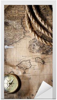 Naklejka na Drzwi Vintage mapie