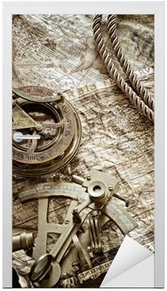 Naklejka na Drzwi Vintage martwa natura morskich