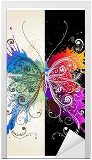 Naklejka na Drzwi Wektor dekoracyjne motyl