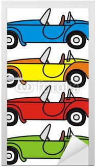 Naklejka na Drzwi Wektor zestaw kreskówki retro samochodów