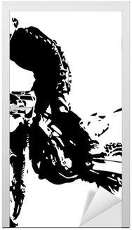 Naklejka na Drzwi Wektora mx rider