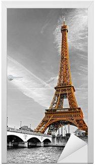 Naklejka na Drzwi Wieża Eiffla, Paryż