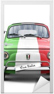 Naklejka na Drzwi Włoski samochód na białym tle