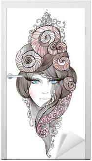 Naklejka na Drzwi Włosy nautilus
