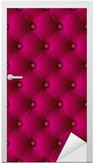 Naklejka na Drzwi Wyściełane fuksja-1 Oryginalne
